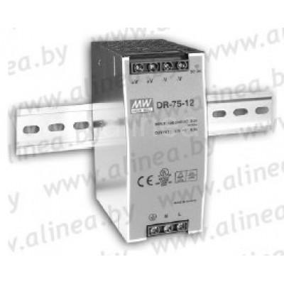 Mean Well DR-75-24 Источник питания на Din-рейку 220VAC/24VDC 75W