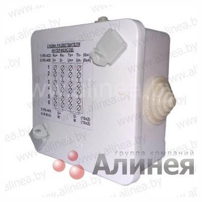 Разветвитель интерфейса РИ-485П2-4*10-IP44