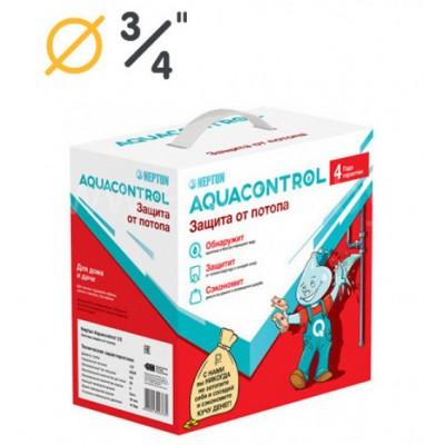 "Система контроля протечки воды Neptun (Нептун) AquaControl 3/4"" (Модуль Base, 2 крана МК 220В, 2 датчика SW007)"