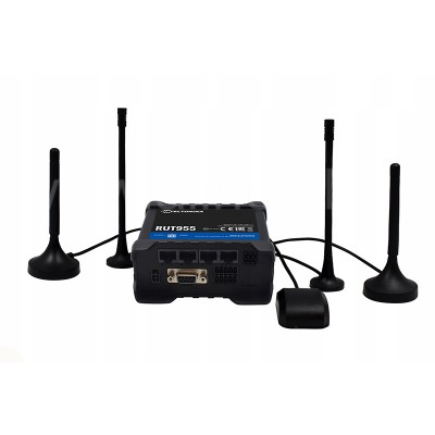 4G (LTE) роутер RUТ955 Teltonika (3*LAN,1*WAN, Wi-Fi, GPS, RS232, RS485, GPIO)