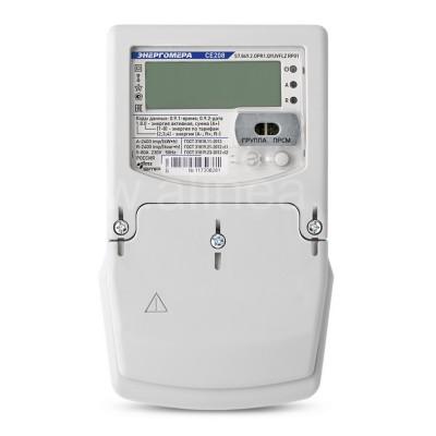 Электросчетчик СЕ208 S7, однофазный 5(40)А / 5(100)А, 230В, с интерфейсом RS-485