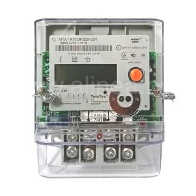 Электросчетчик MTX1 A10.DF.2L0-YD4, однофазный 5(60)А, 230В, PLC2