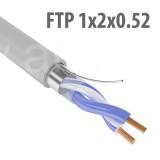 Кабель FTP (F/UTP) 1х2х0,52 Cat5e (c экраном), 1м (метраж)