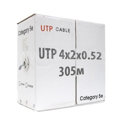 Кабель UTP (U/UTP) 4х2х0,52 Cat5e (без экрана), бухта 305м