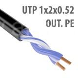 Кабель UTP (U/UTP) 1х2х0,52 Cat5e OUTDOOR (для внешней прокладки; PE, PVC/PE), 1м