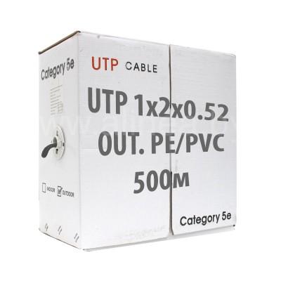 Кабель UTP (U/UTP) 1х2х0,52 Cat5e OUTDOOR (для внеш. прокл. PE, PVC/PE), бухта 500м